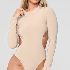 Fashion Nova Tops - Day And Night Bodysuit - Nude Xl